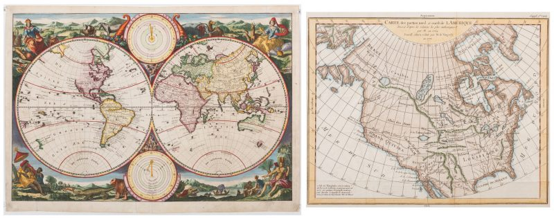Lot 540: 2 18th Cent. Maps, inc. Van Jagen & Vaugondy