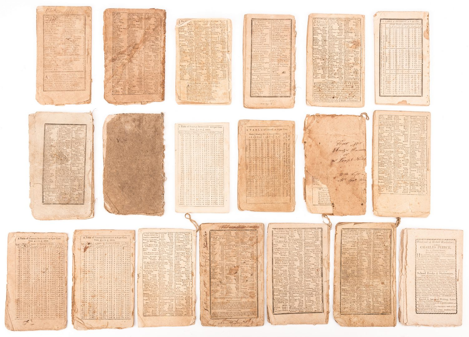 Lot 544: 19 Post Rev. War Almanacks, 1784-1808