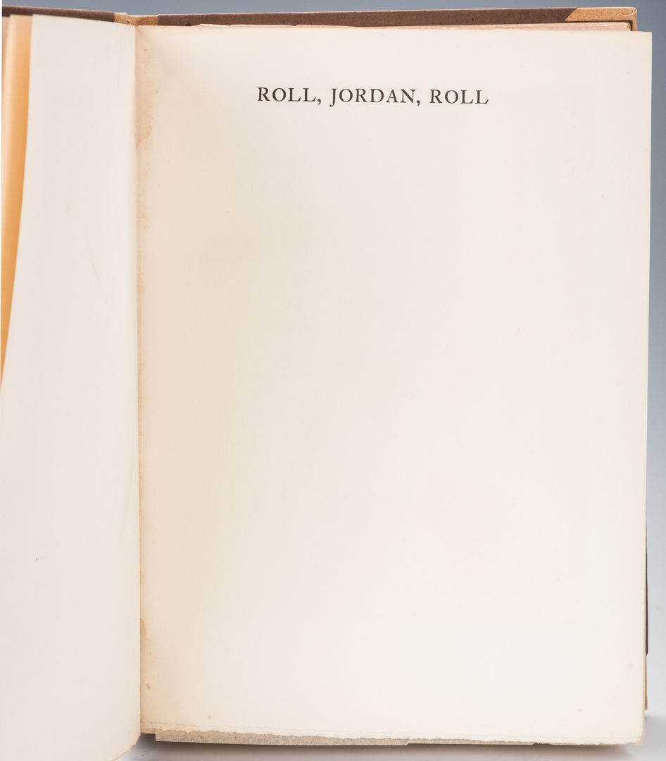 Lot 546: Roll Jordan Roll, Author Signed #74 of 350.