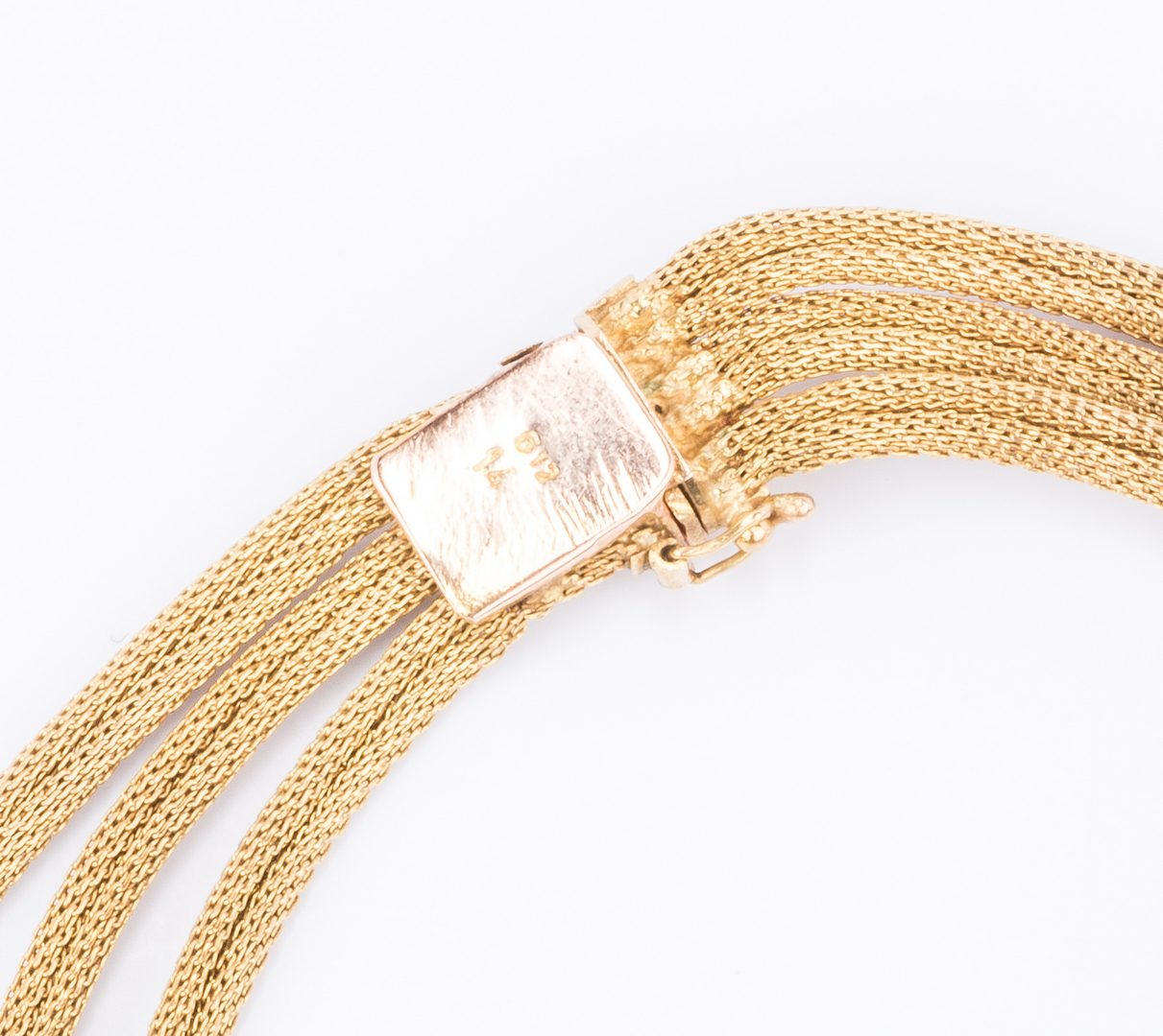 Lot 54: 14K 2-tone Gold Woven Necklace