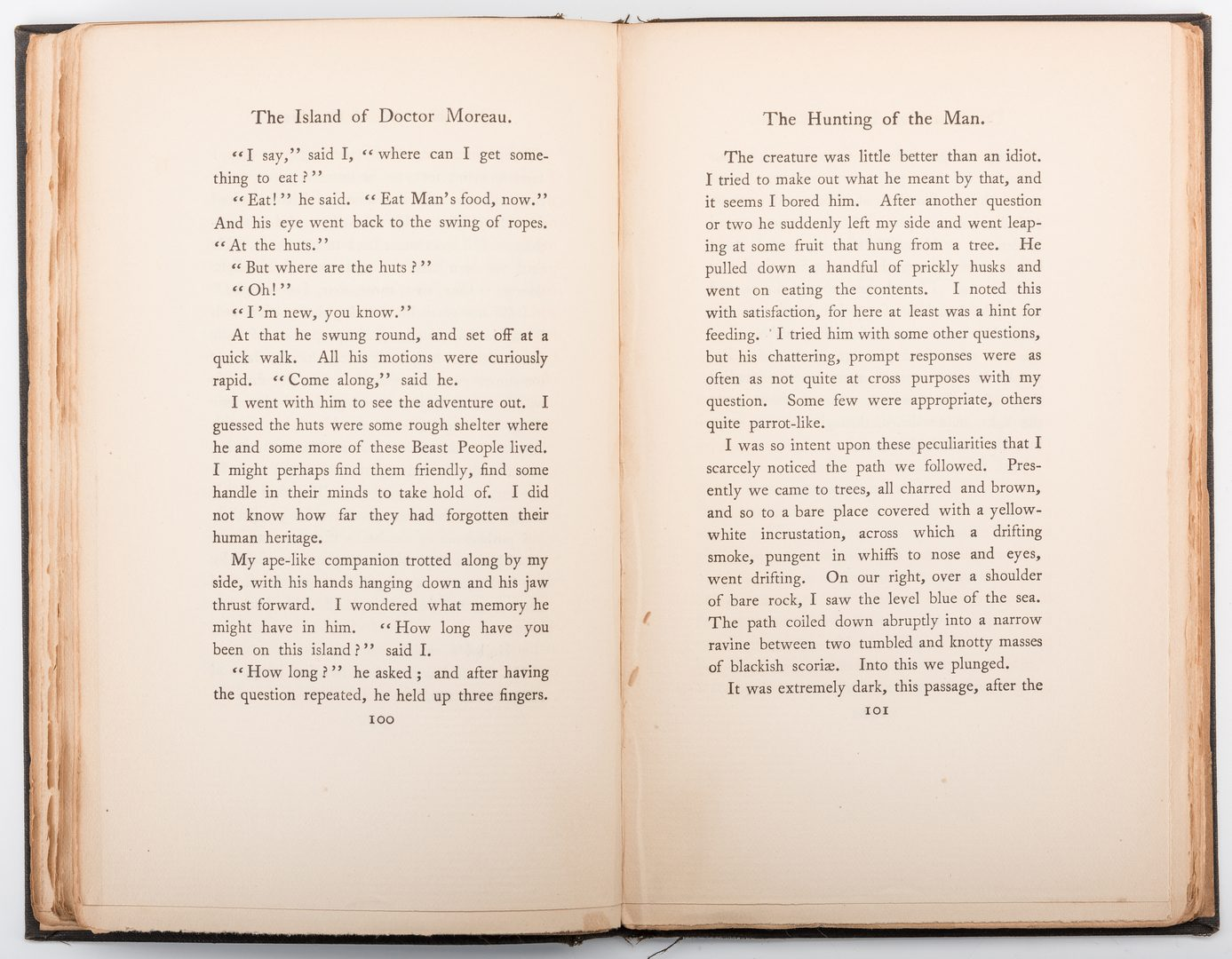 Lot 550: H. G. Wells: Island of Dr. Moreau, 1st Ed.
