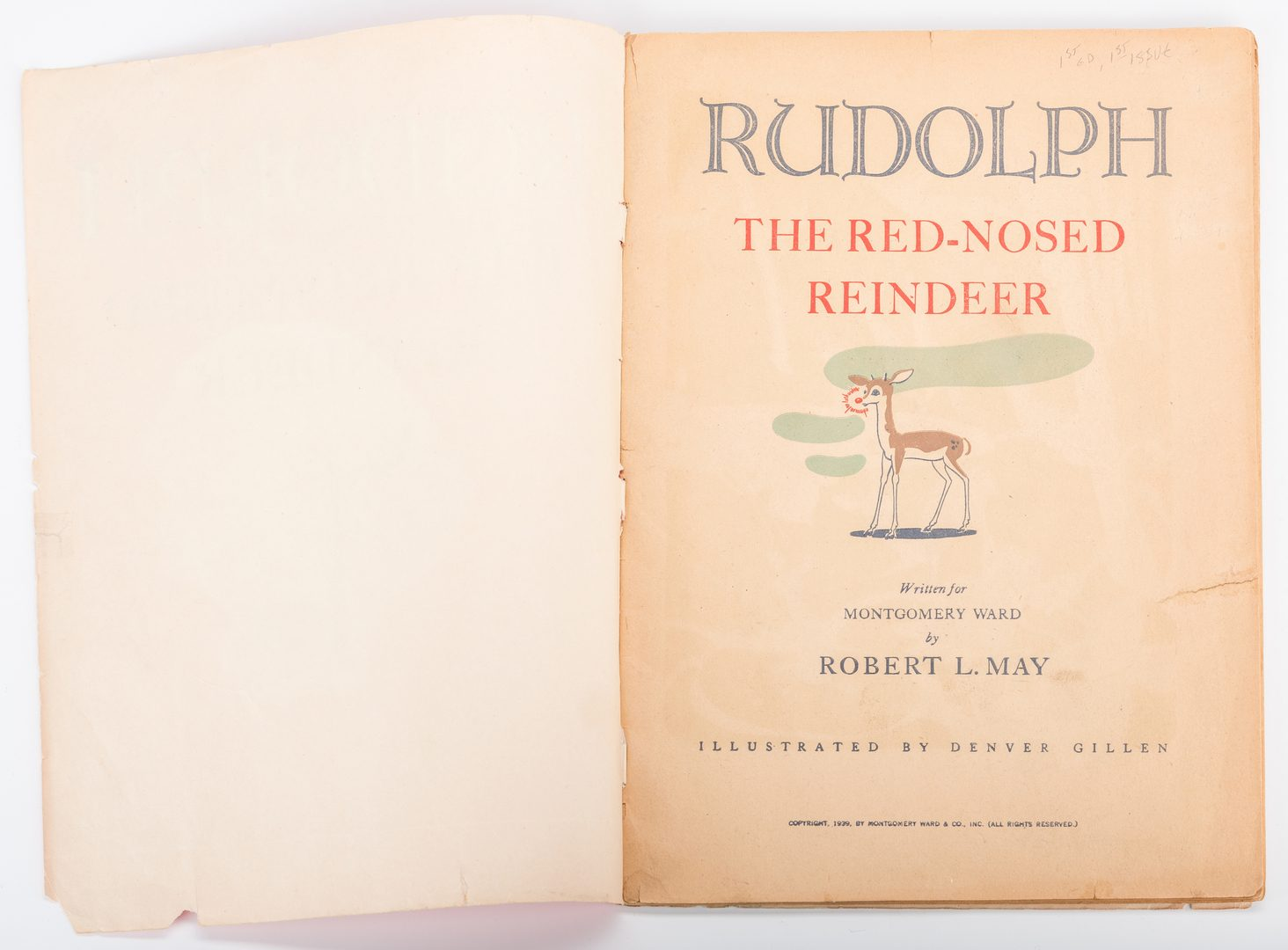 Lot 555: Early Children's Christmas Book – Rudolph