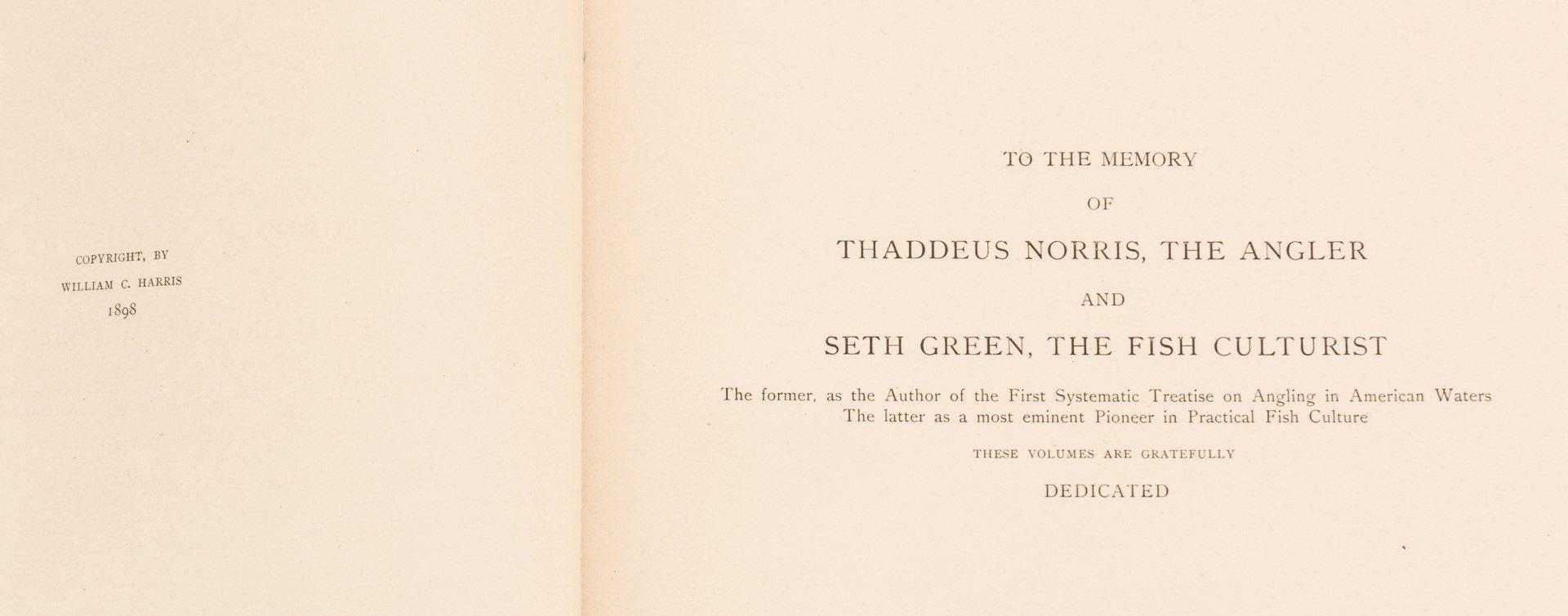 Lot 556: The Fishes of North America, William C. Harris, 18