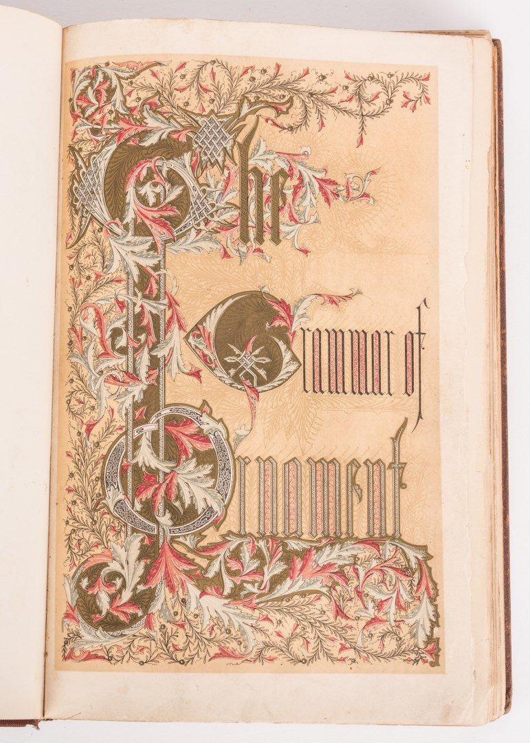 Lot 557: Grammar of Ornament, Owen Jones, 1868
