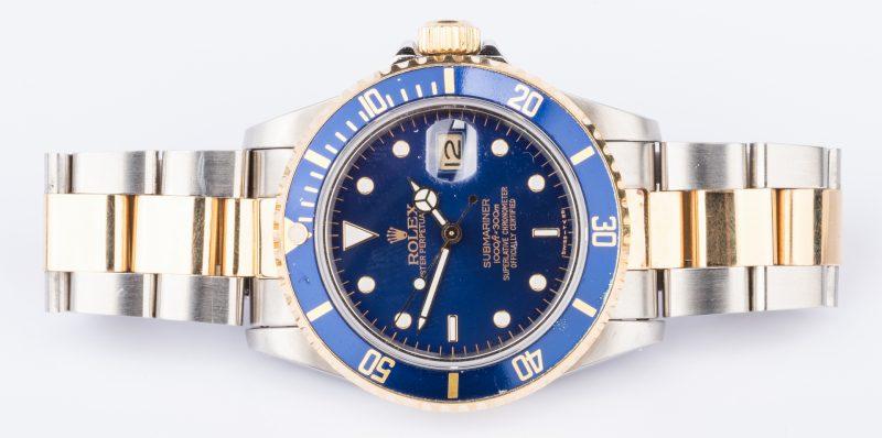 Lot 55: Gents Rolex 18K/Steel Submariner Blue face