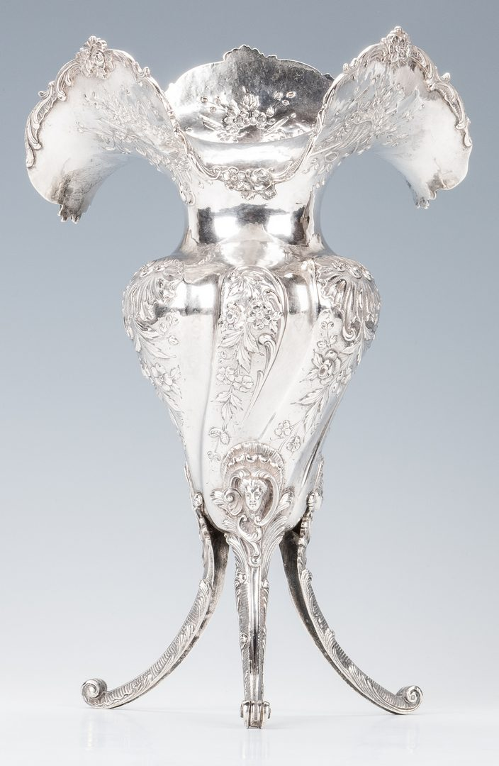 Lot 560: French Silver 3-Footed Vase