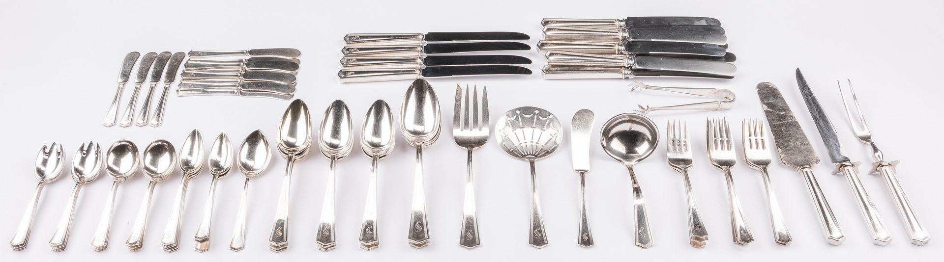 Lot 565: 85 pcs International Sterling Flatware, Beacon Hill