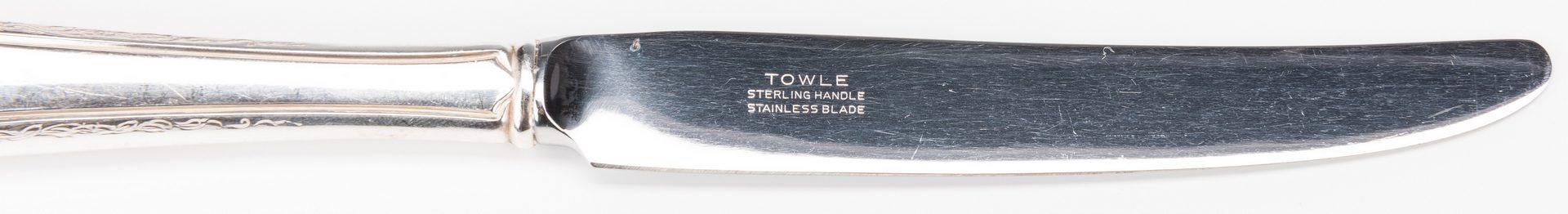 Lot 568: 53 pcs Sterling Flatware,inc. Virginia Carvel pattern