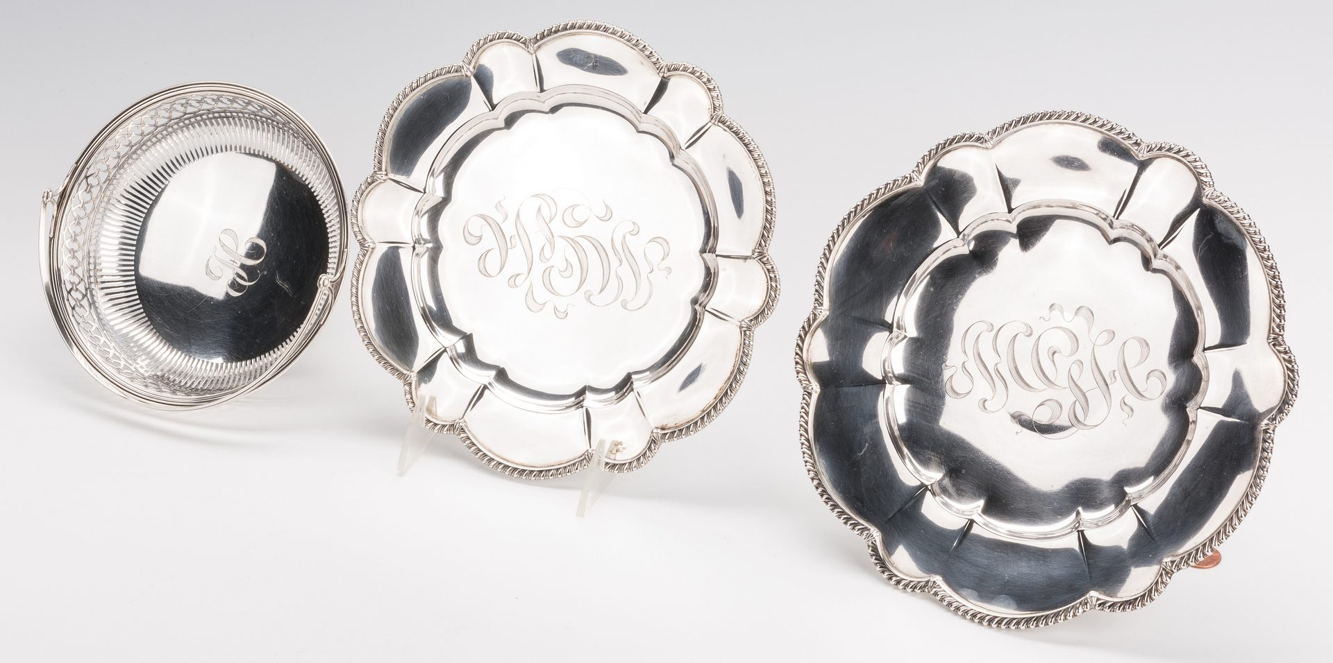 Lot 569: 12 silver items inc. Tiffany and 6 sherbets