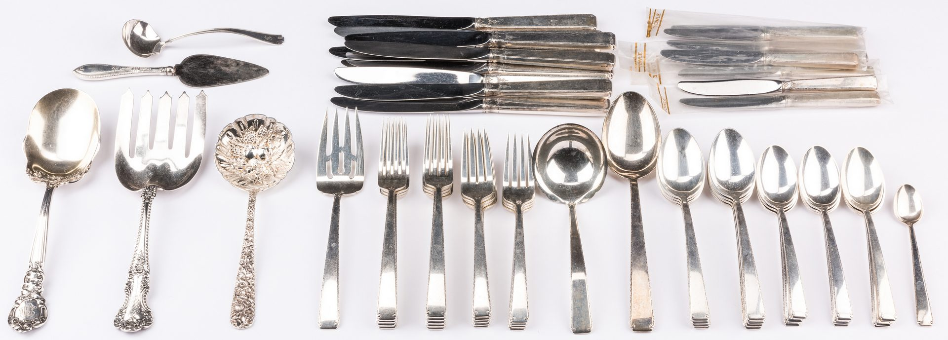 Lot 572: Towle Old Lace Sterling Flatware & more, 61 pcs