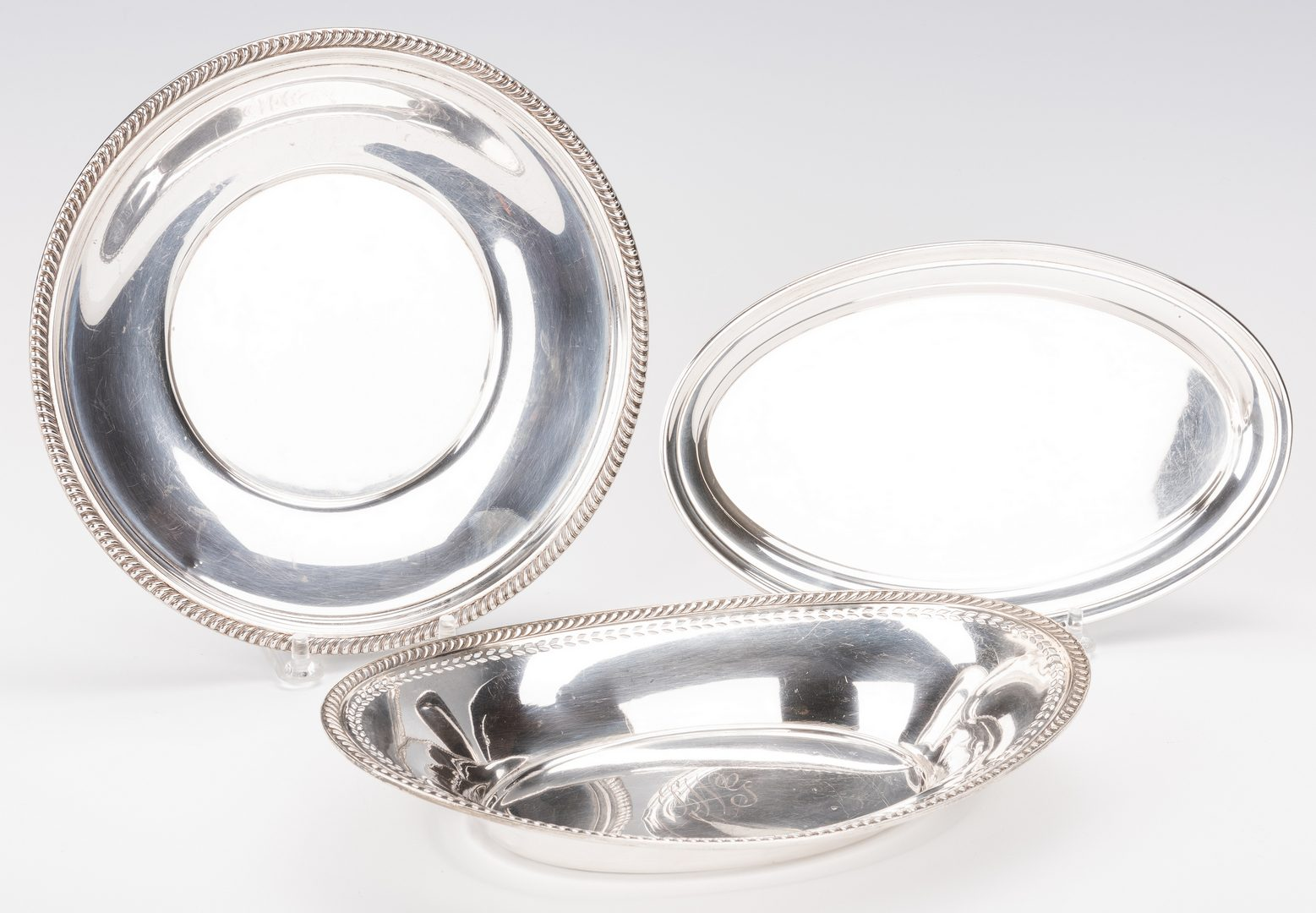 Lot 576: 7 Sterling Silver Serving Items