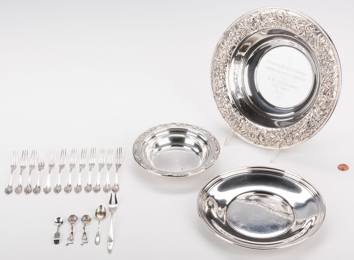 Lot 579: Group of Sterling Silver, inc. Kirk & Son
