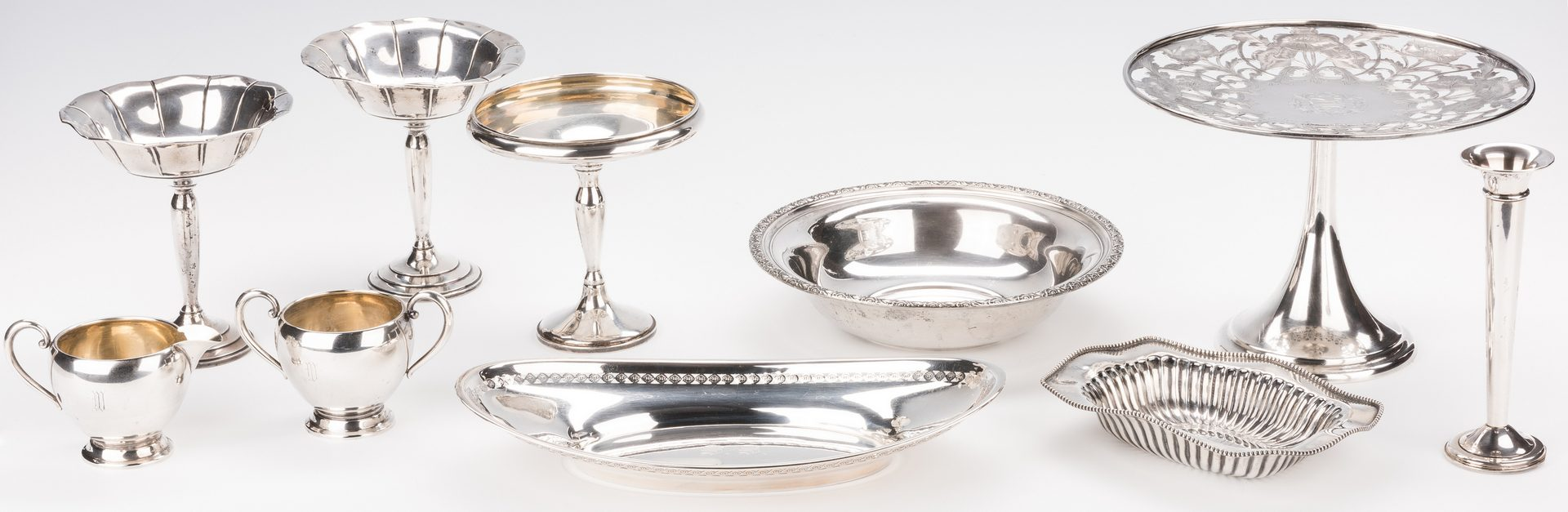 Lot 582: 10 Assorted Sterling Table Items