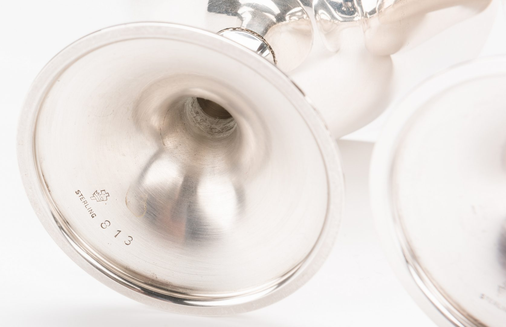 Lot 586: 10 Manchester Sterling Champagne or Sherbets
