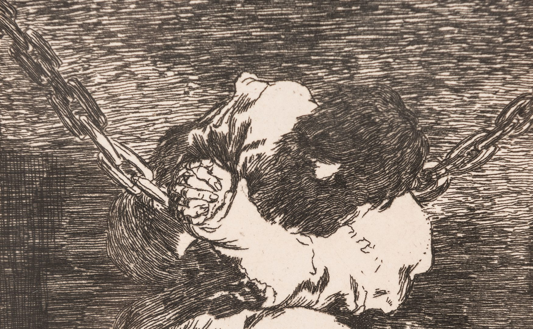 Lot 593: 2 Posthumous Etchings, Goya and Cezanne