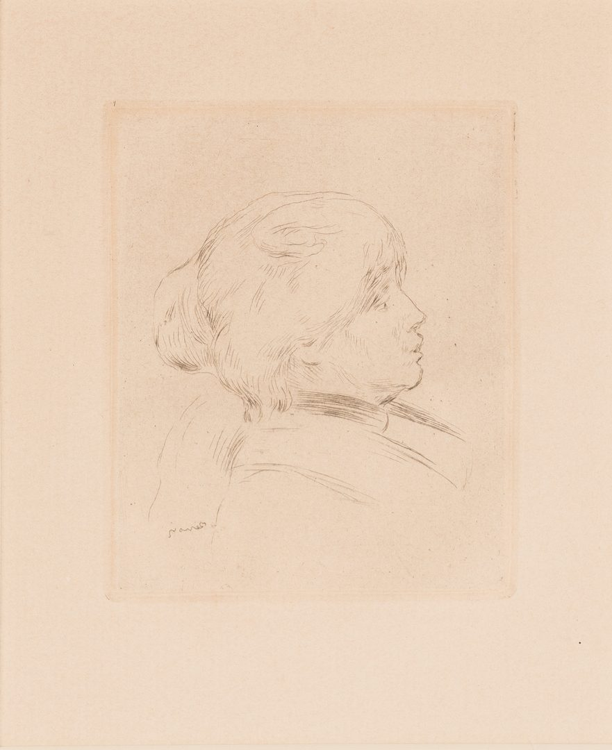 Lot 594: 2 Etchings: Pierre Bonnard & Renoir