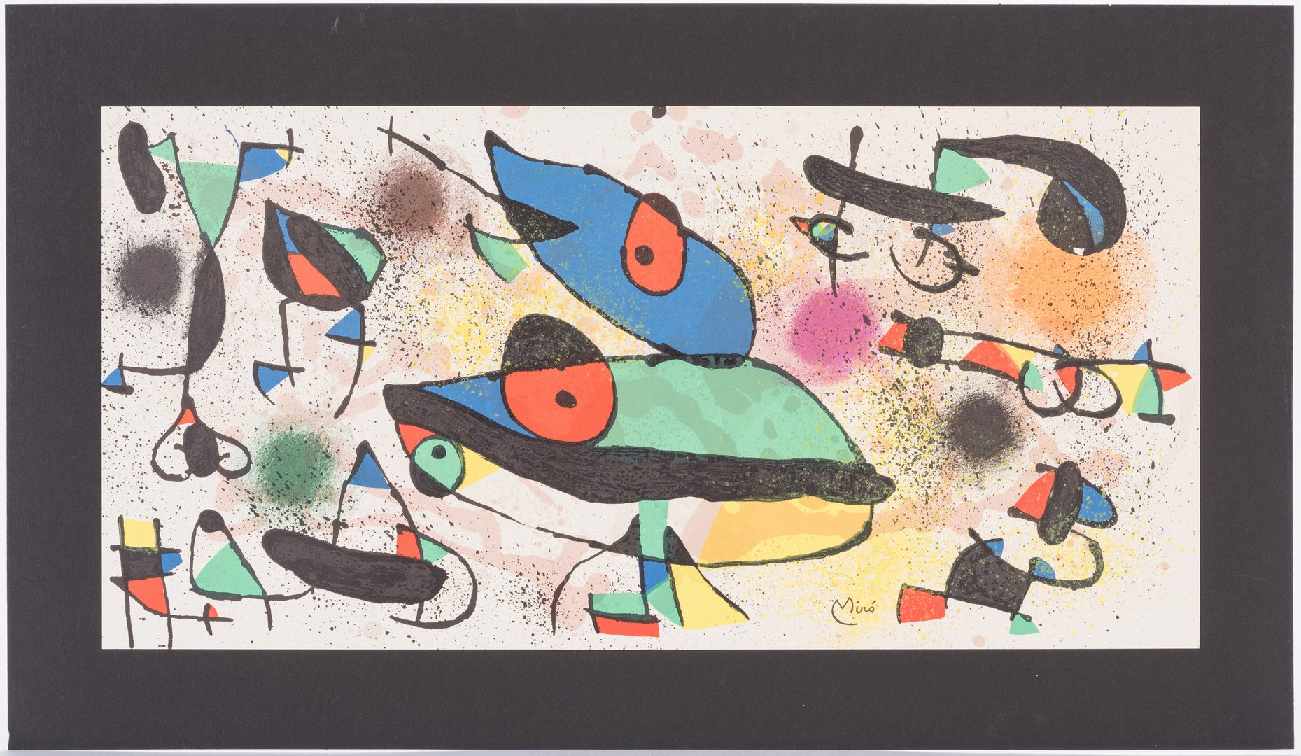 Lot 595: 2 Prints after Chagall and Miro