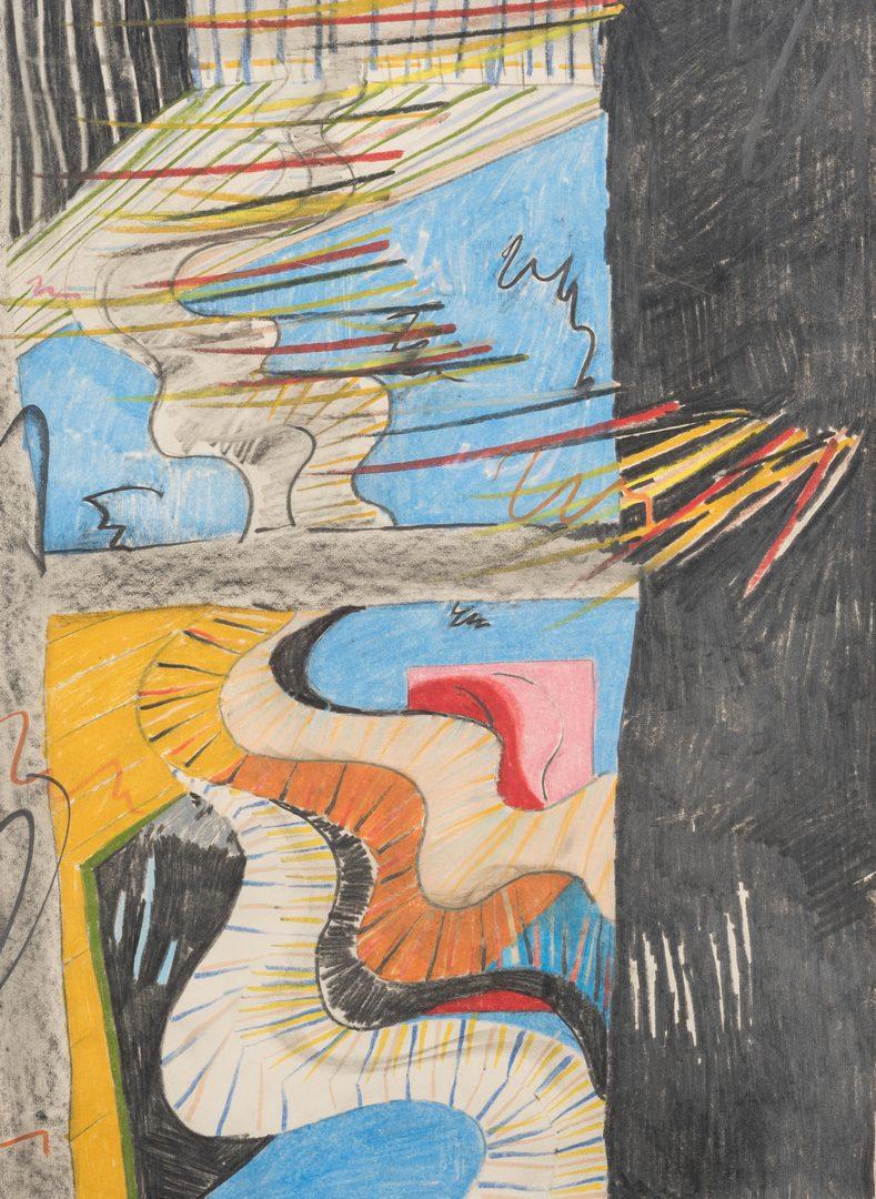 Lot 599: Sam Johnson Abstract Drawing