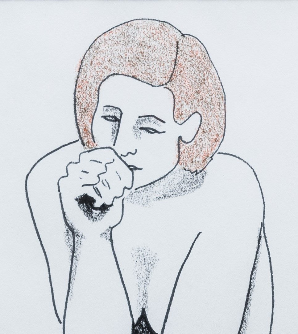 Lot 600: March Avery Nude Drawing