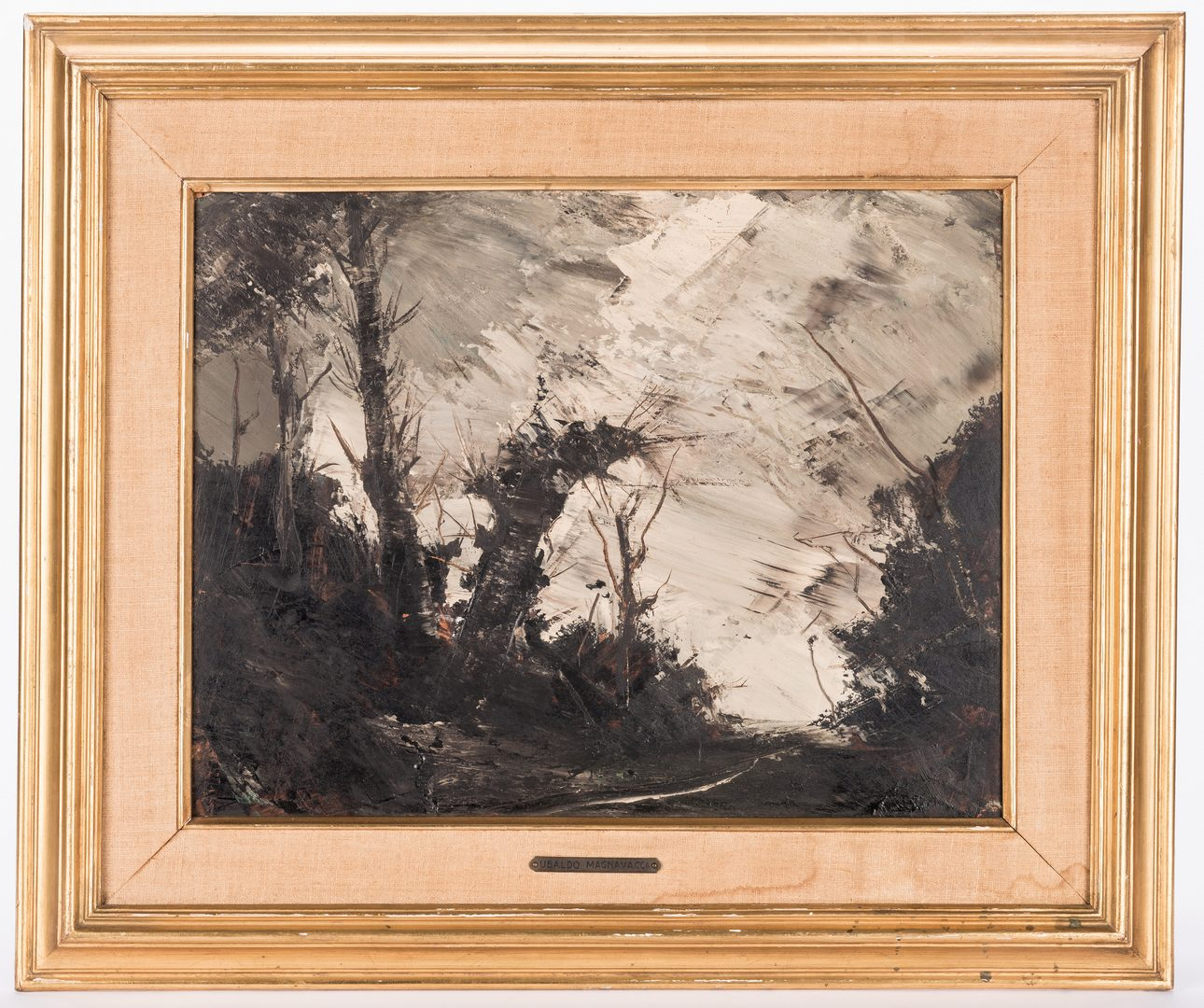 Lot 602: Ubaldo Magnavacca, Oil on Board, Landscape and more