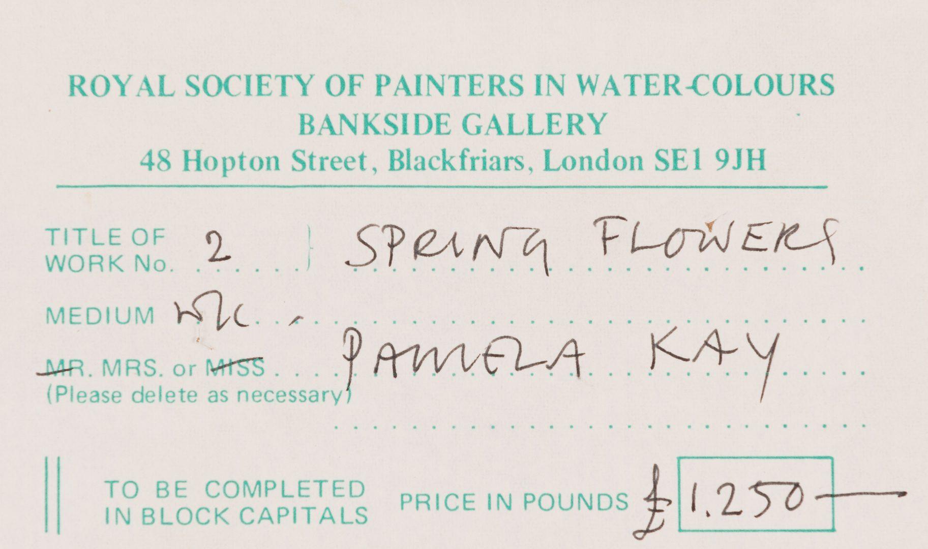 Lot 603: 2 Pamela Key Still Life Paintings