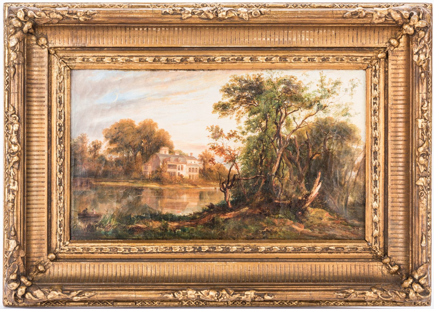 Lot 604: Continental School Landscape with Mansion