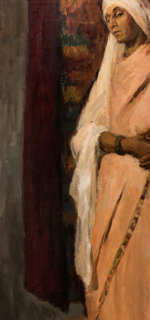 Lot 606: Orientalist Portrait of a Woman, 20th c.