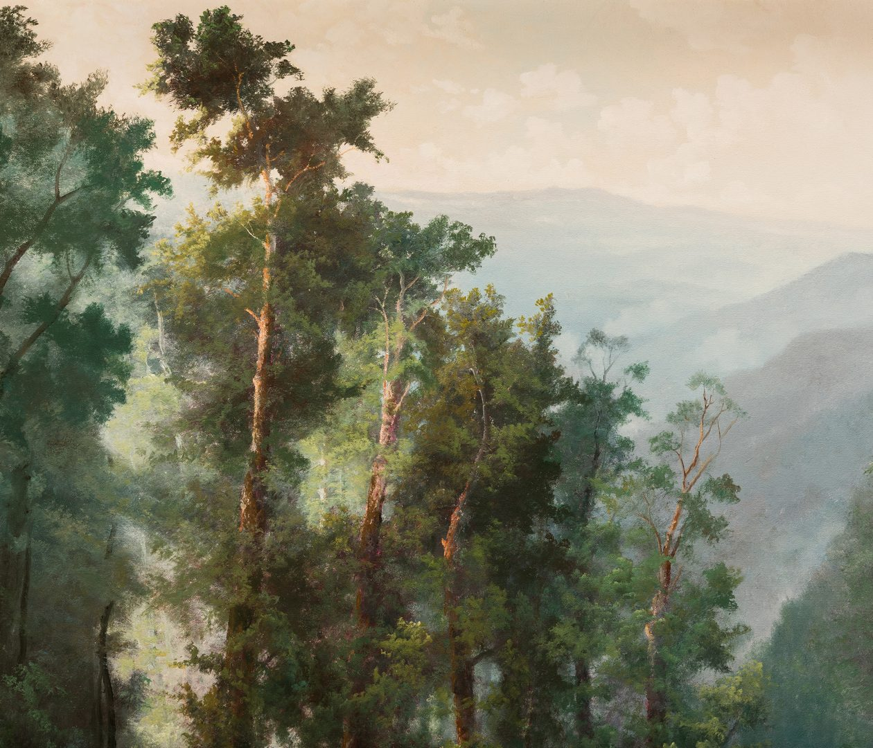 Lot 611: Ron Williams O/C Landscape Mountain View in Spring