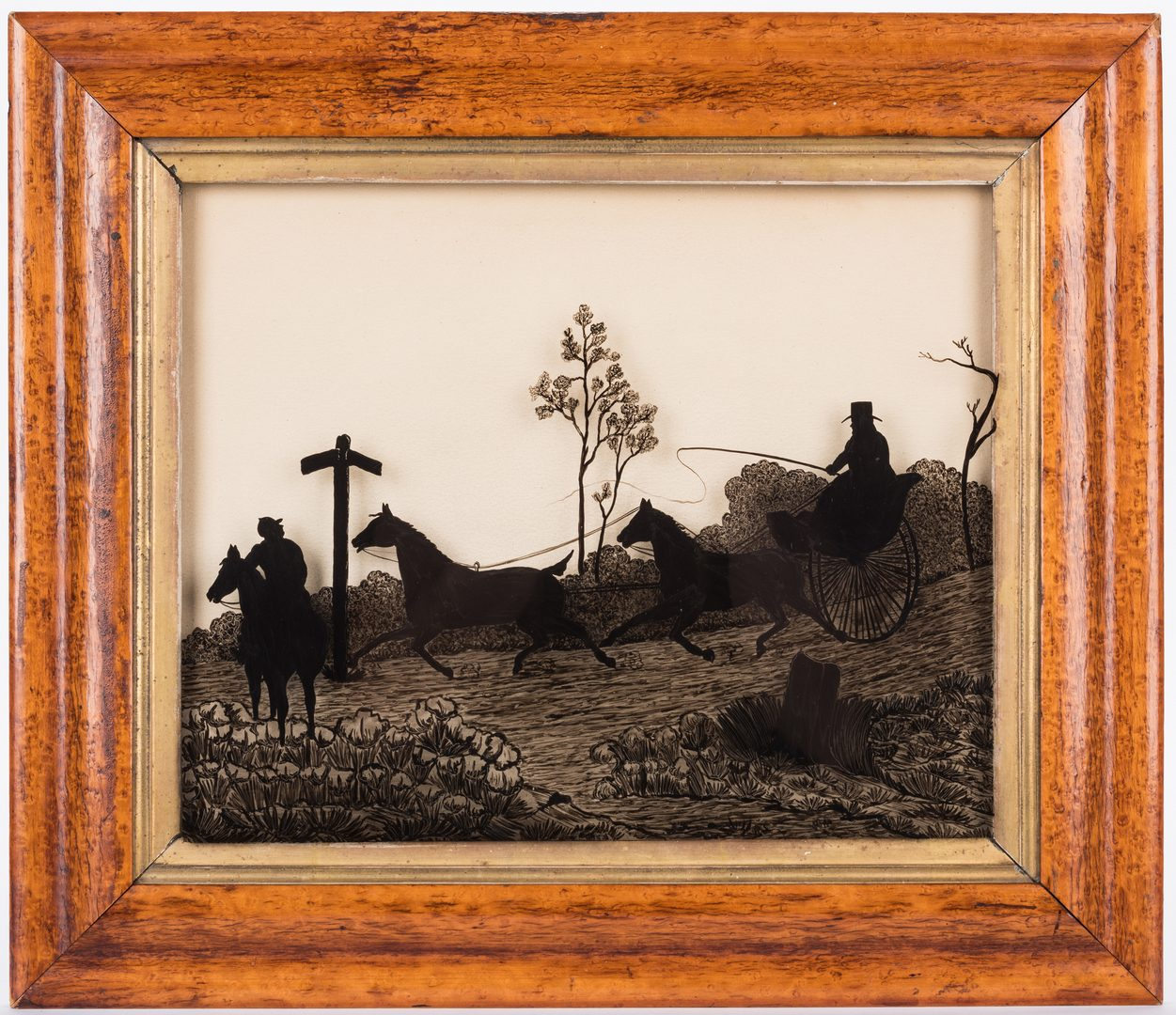 Lot 614: 4 Framed Silhouettes, inc. Peale Museum