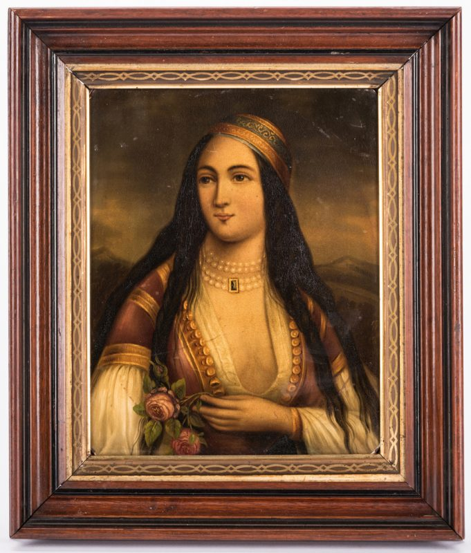 Lot 616: German Orientalist Portrait of a Woman