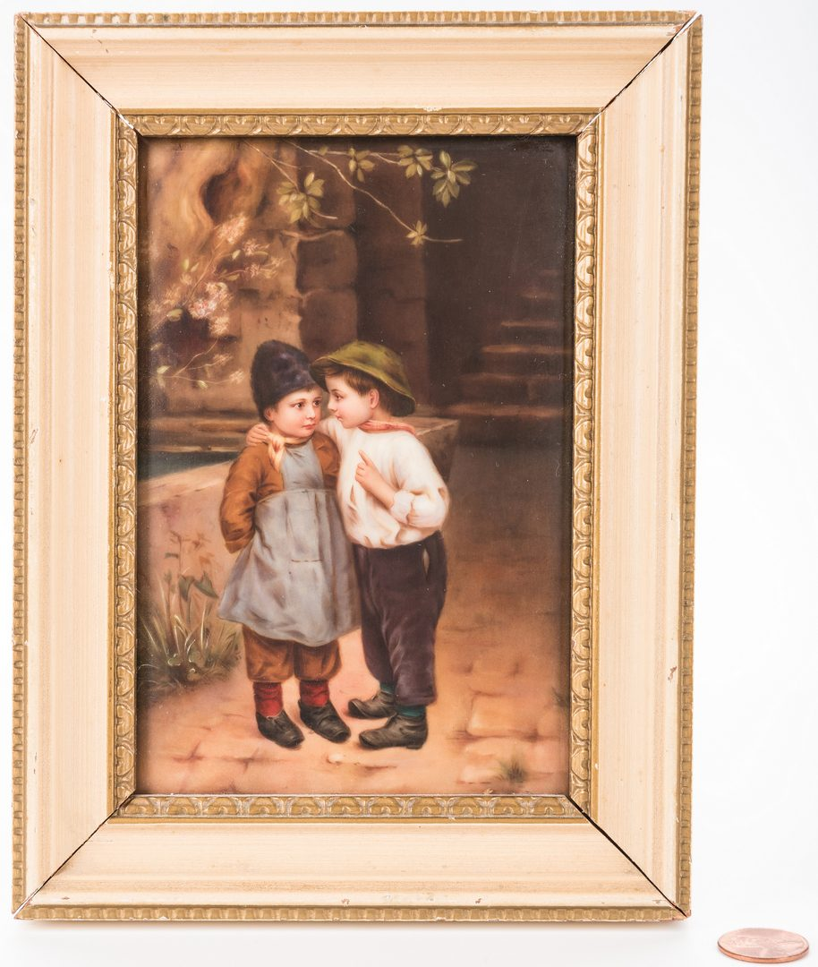 Lot 617: Porcelain Plaque, signed Bauer