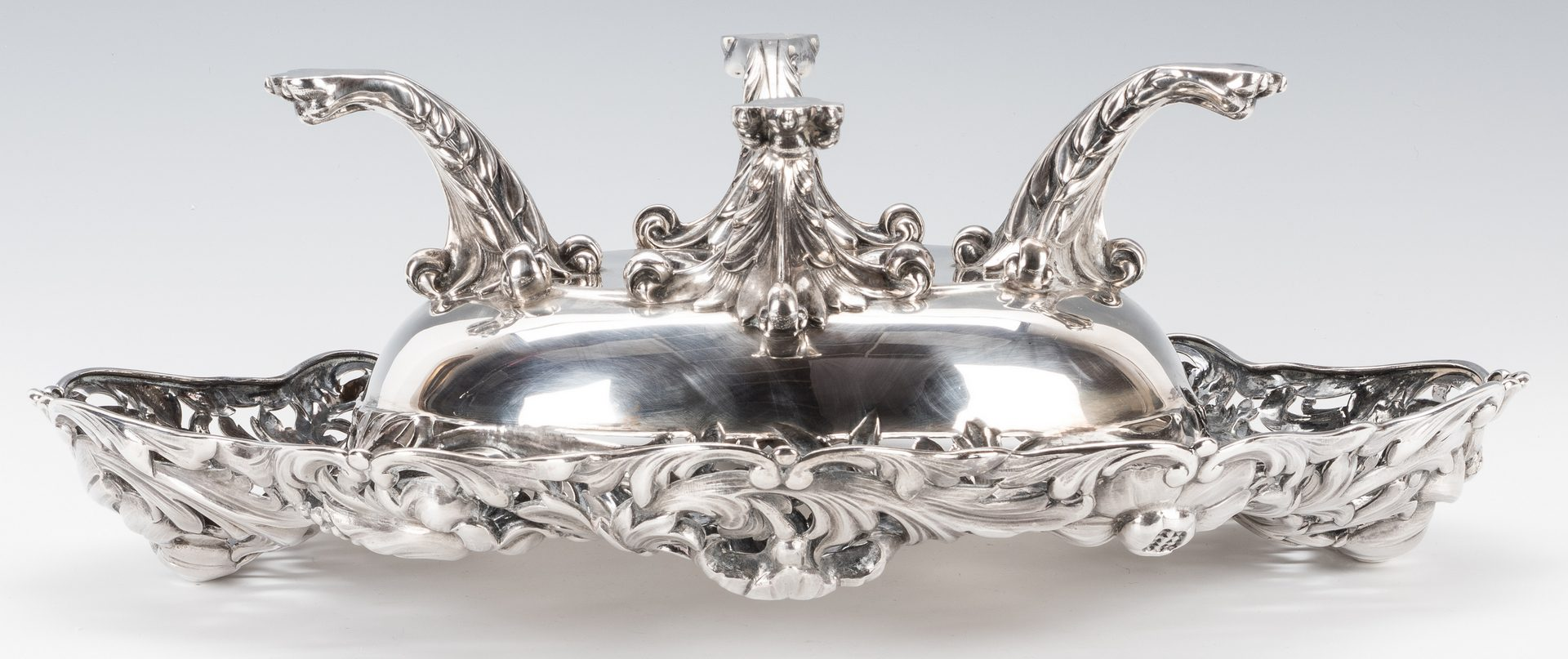 Lot 61: Art Nouveau Sterling Centerpiece