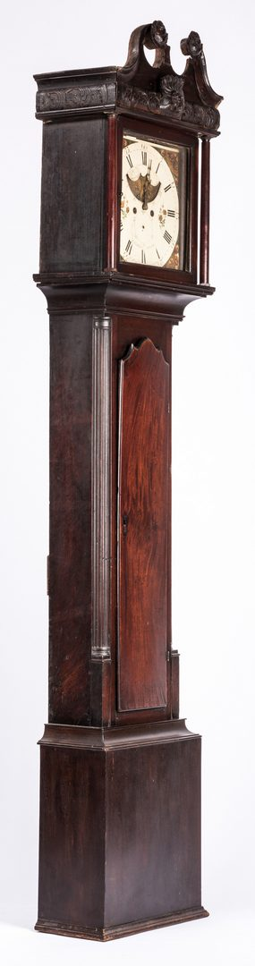 Lot 625: Irish Chippendale Wigan Tall Clock