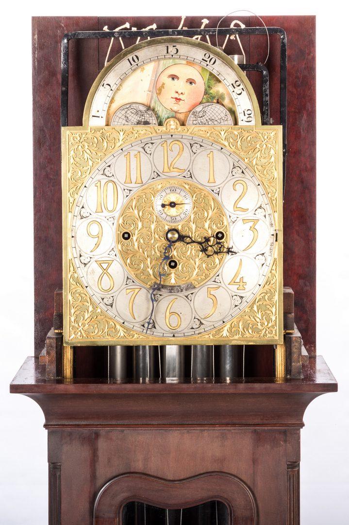 Lot 626 Tiffany 5 Tube Chime Tall Case Clock