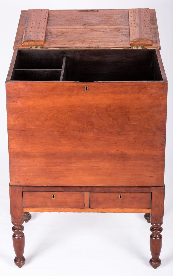 Lot 630: Middle TN Cherry Sheraton Sugar Chest