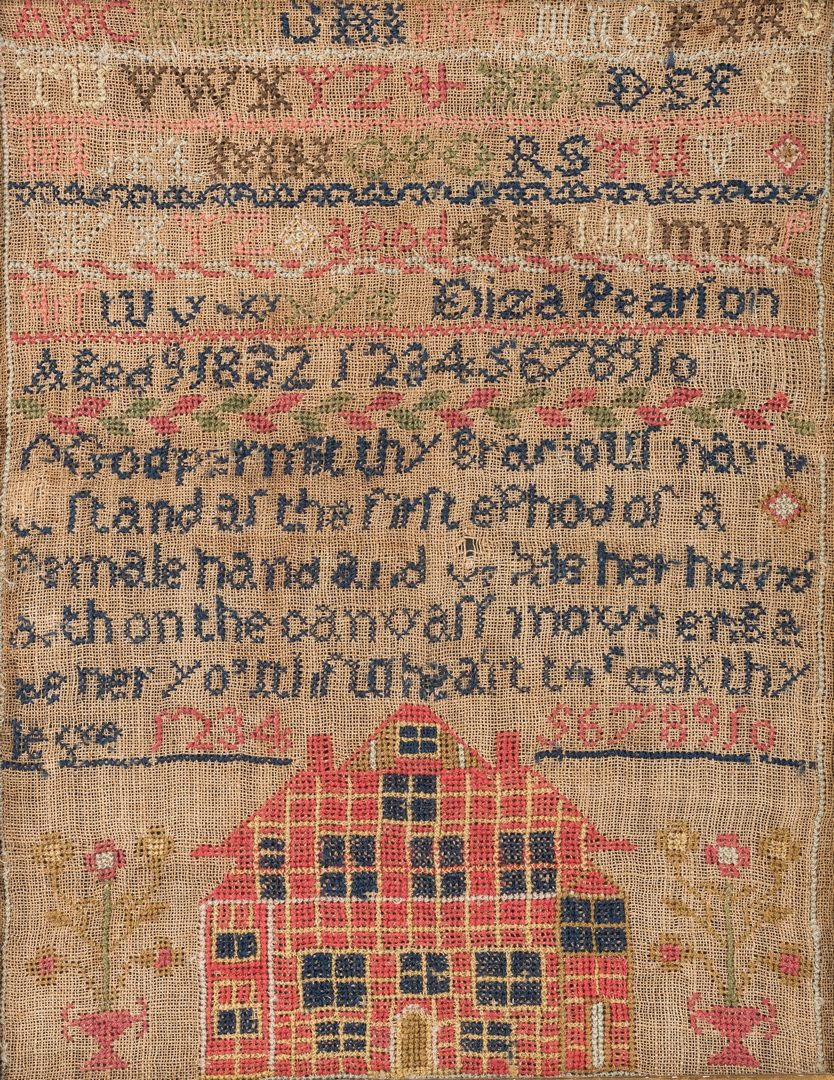 Lot 638: Kentucky 1832 House Sampler, Eliza Pearson