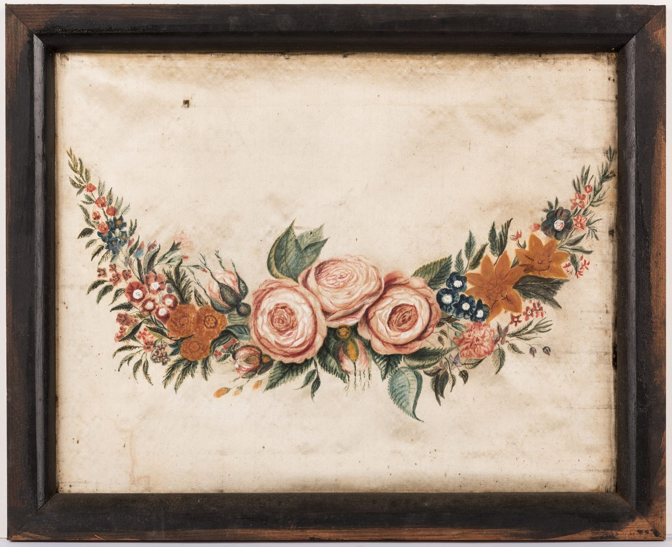 Lot 639: Virginia Watercolor on Silk Theorem