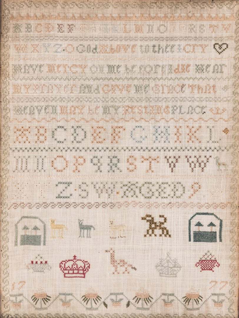 Lot 643: 3 English Samplers, 18th/19th Cent.