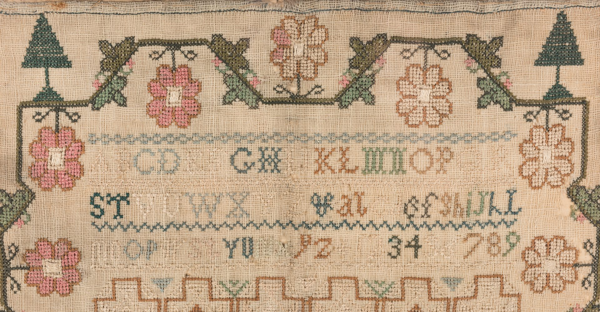 Lot 644: 3 19th Cent. Needlework Samplers
