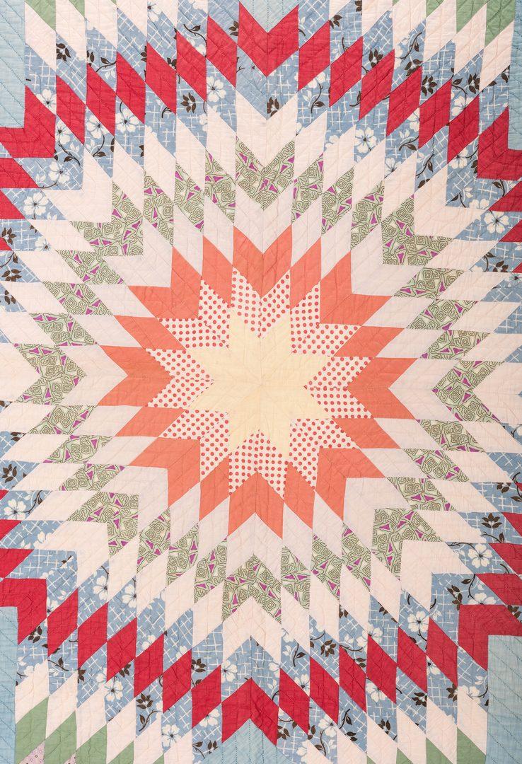 Lot 647: Dorothy W. Hagen Star of Bethlehem Quilt, 1928