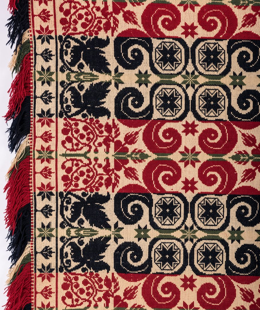 Lot 648: 2 Jacquard Coverlets, inc. signed PA