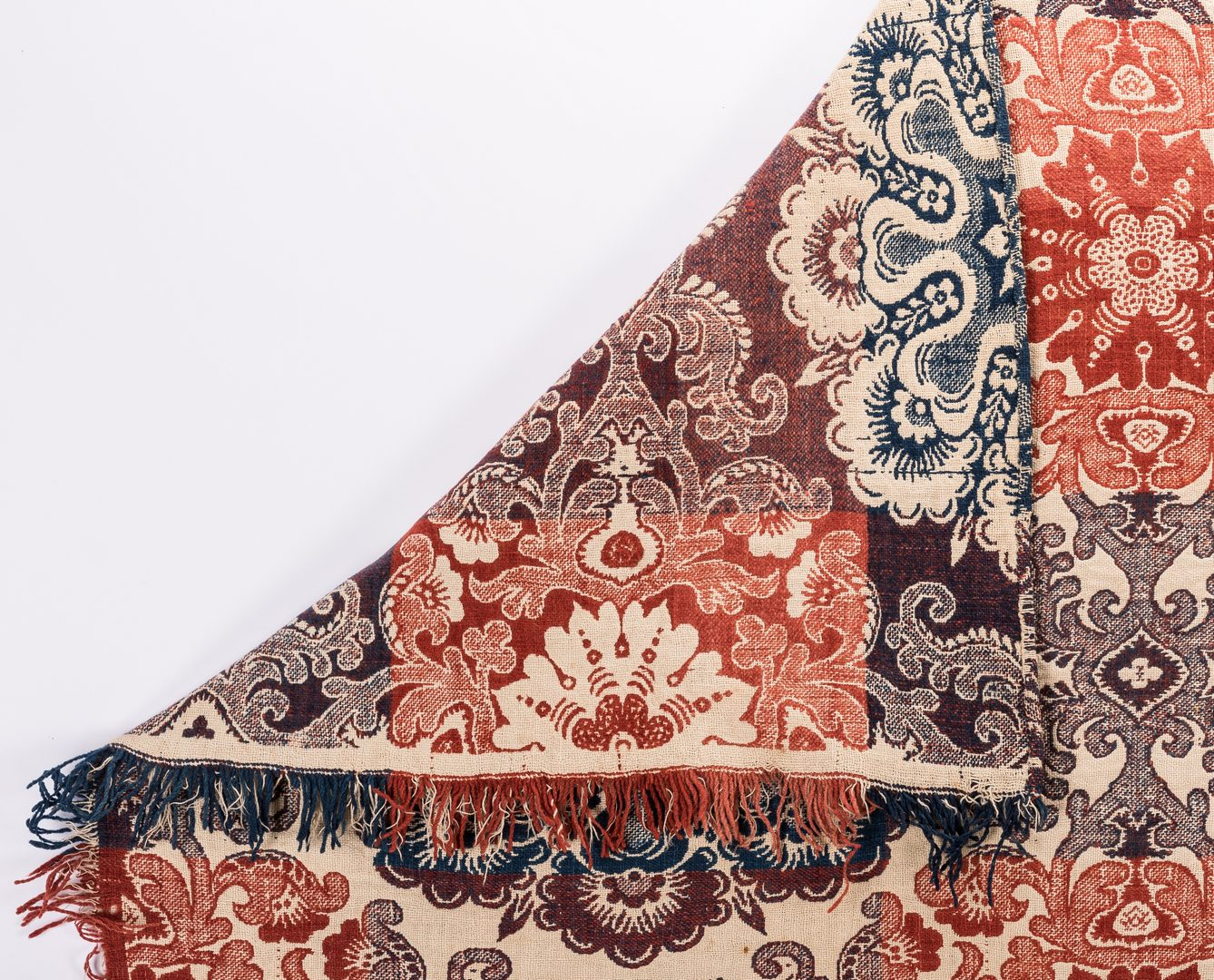 Lot 649: 2 Jacquard Coverlets