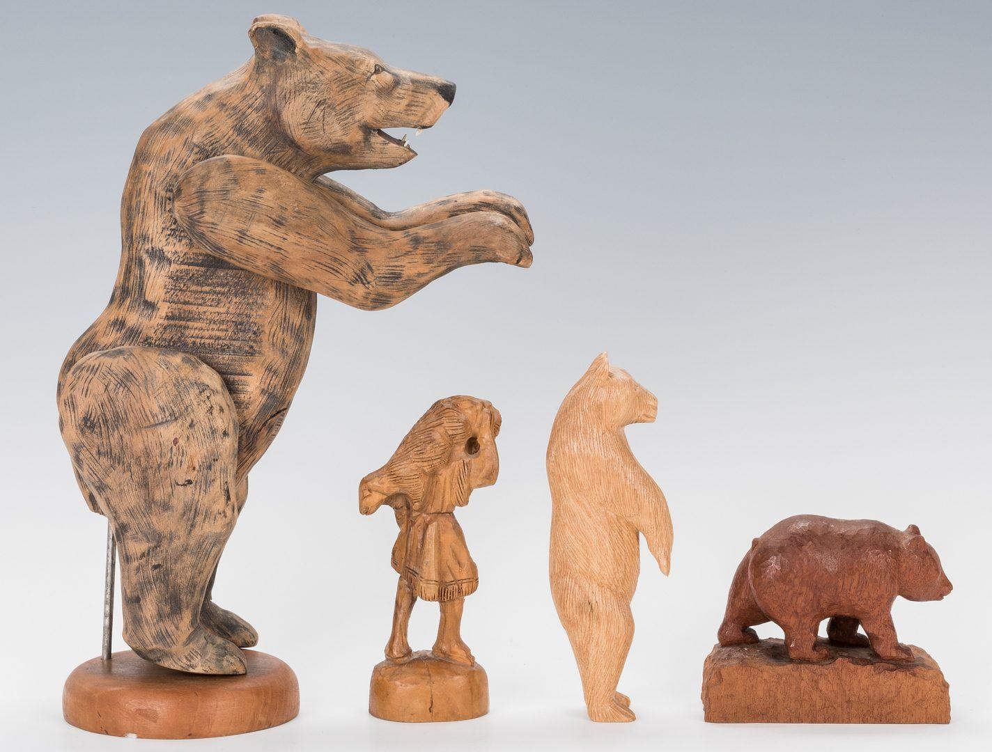 Lot 653: Appalachian Folk Art Items, inc. Banjo, Carvings & Basket