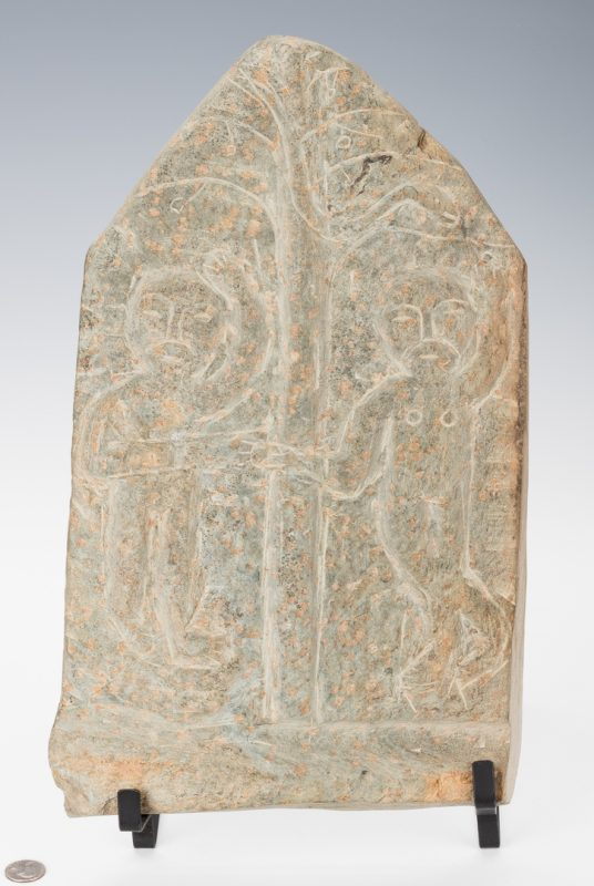 Lot 654: Raymond Coins stone carving, Garden of Eden