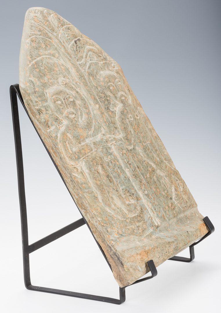 Lot 654: Raymond Coins stone carving, Garden of Eden