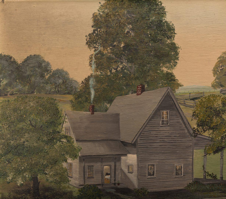 Lot 655: Helen LaFrance, O/B, Farm Scene