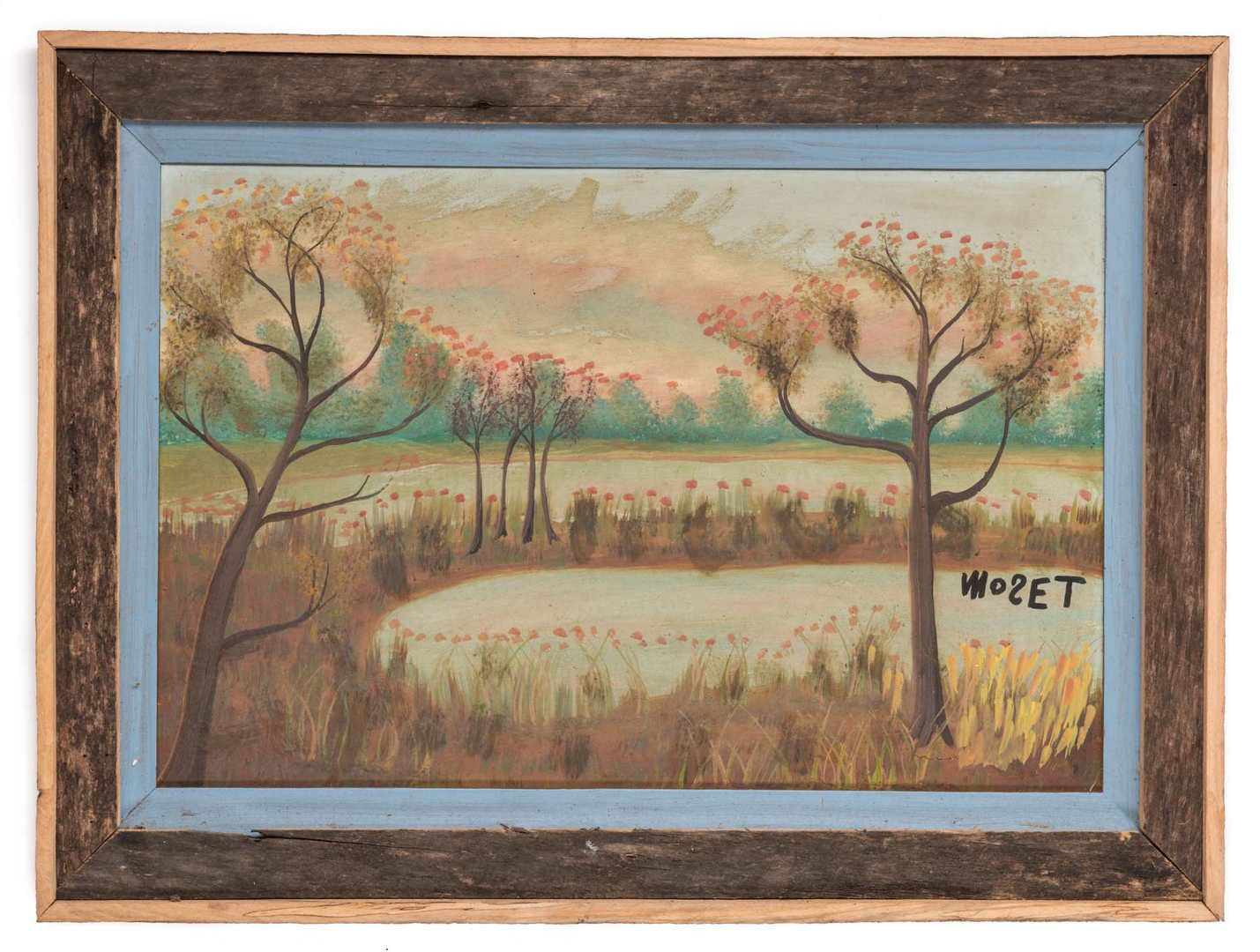 Lot 666: 2 Tolliver Family Folk Art Paintings