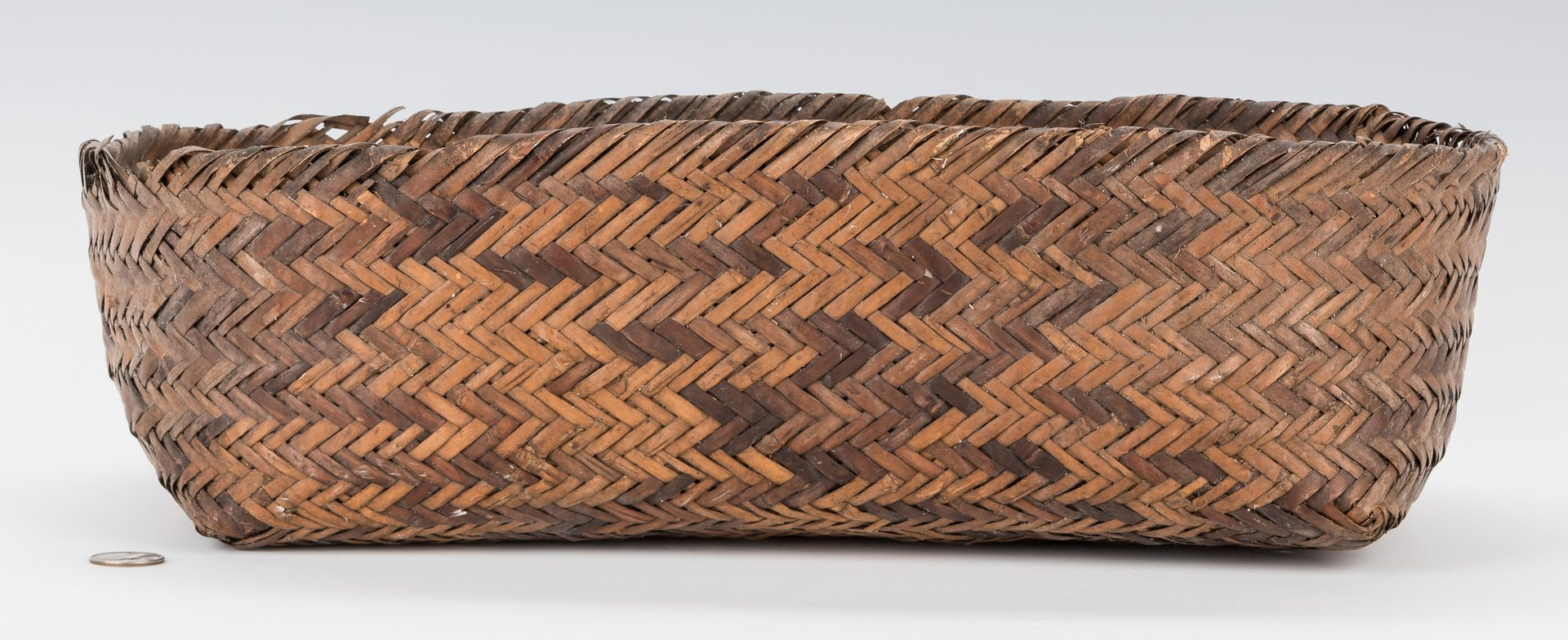 Lot 670: 19th Cent. Cherokee Double Weave Basket