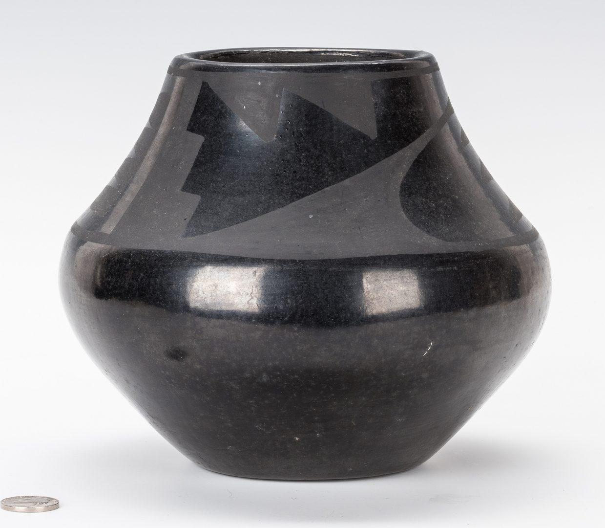 Lot 672: San Ildefonso Blackware Jar, Marie & Julian