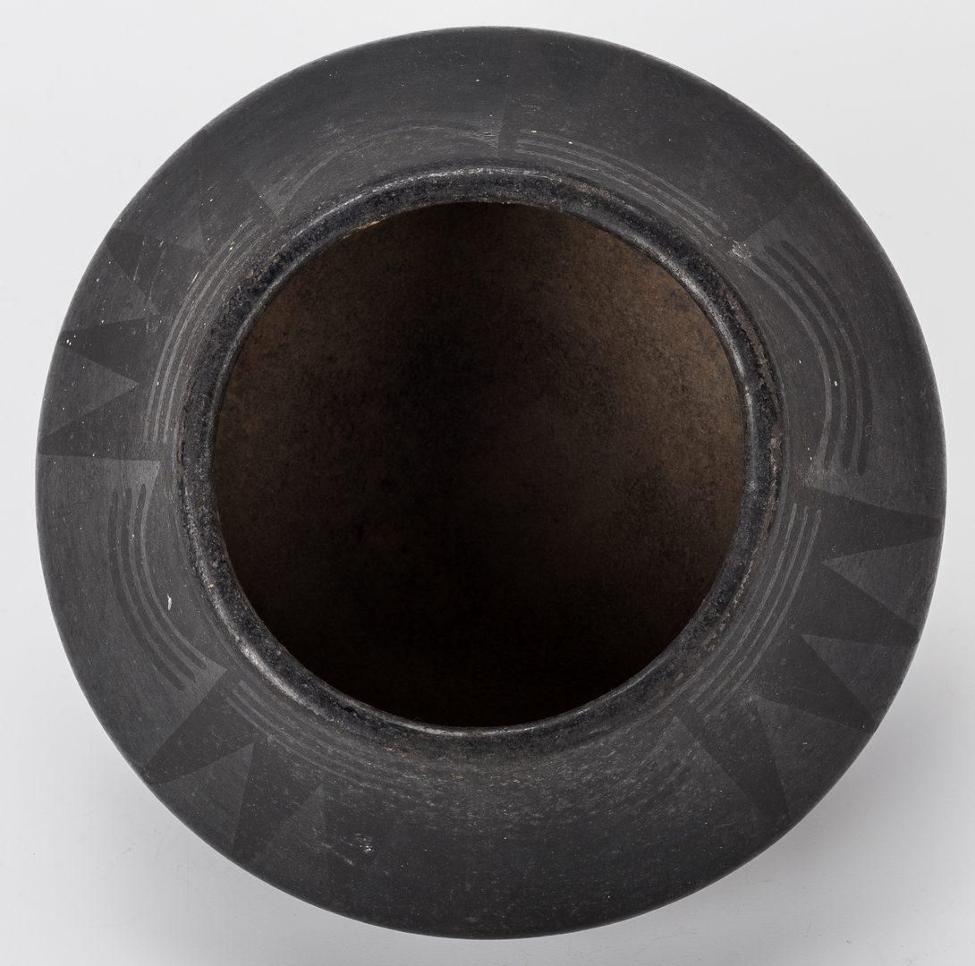 Lot 673: 2 San Ildefonso Blackware Items, incl.  Marie & Julian Martinez